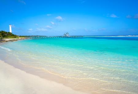 마야 쿠르 카리브 해변 마야 멕시코의 코스타 마야에서 스톡 콘텐츠