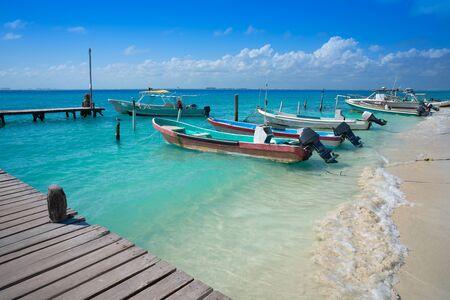 Isla Mujeres island Caribbean beach of Riviera Maya in Mexico