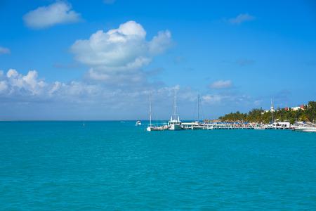 Isla Mujeres island near Cancun Caribbean sea of Riviera Maya of Mexico
