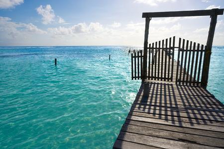 yucatan: Mahahual Caribbean beach pier in Costa Maya of Mayan Mexico