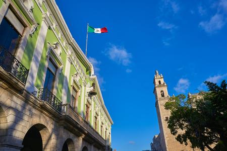 colonial church: Valladolid San Gervasio church of Yucatan in Mexico