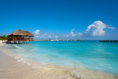 멕시코 마야 리비에라 마야 마 로마 카리브 해변 오두막