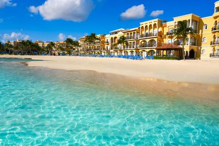 Het strand van Playa del Carmen in Riviera Maya Caraïbisch in Mayan Mexico Stockfoto
