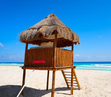 Playa Marlin in Cancun Beach at Riviera Maya of Mexico Stock Photo