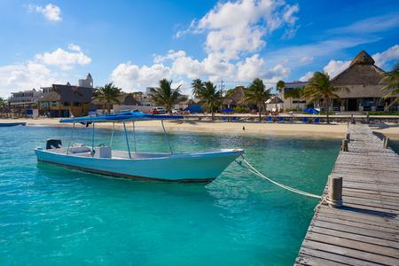 yucatan: Puerto Morelos beach in Riviera Maya at Mayan Mexico