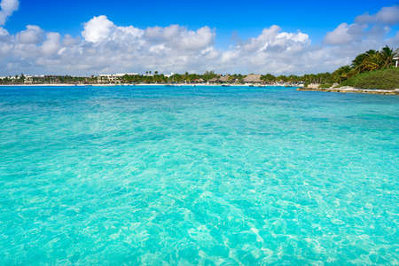 Akumal bay Caribbean beach in Riviera Maya of Mayan Mexico 写真素材