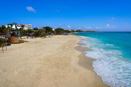 Playa del Carmen beach in Riviera Maya near Cancun Mayan Mexico
