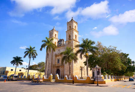 Valladolid San Gervasio church of Yucatan in Mexico
