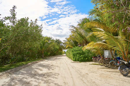 Holbox tropical Island in Quintana Roo of Mexico
