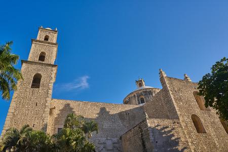 Merida city Tercera Orden church of Yucatan in Mexico 스톡 콘텐츠
