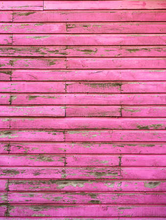 Mahahual Caribbean grunge pink wood painted wall in Costa Maya Mexico Banque d'images