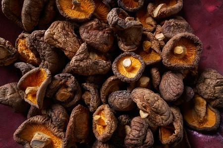Dried Shiitake mushrooms edible for Asian cuisine food
