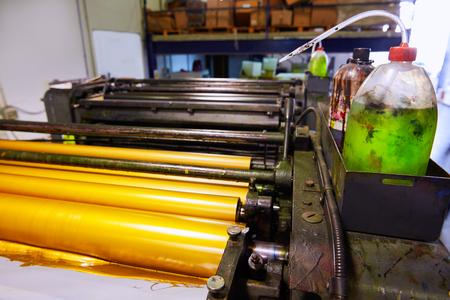 Printer ink machine rotary printing factory golden printer rollers