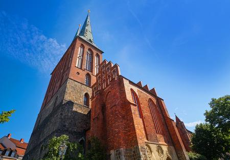 Berlin Nikolaikirche church in Germany baltic gothic artchitecture Stock Photo