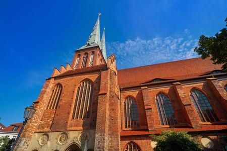 Berlin Nikolaikirche church in Germany baltic gothic artchitecture Stockfoto