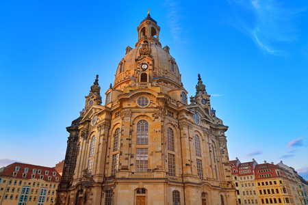 Dresden Frauenkirche Lutheran church in Saxony of Germany