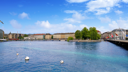 Geneve lake Geneva of Switzerland Swiss at Leman lake Standard-Bild