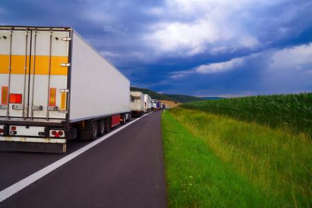 Germania ingorgo in un incidente stradale veicoli in fila Archivio Fotografico