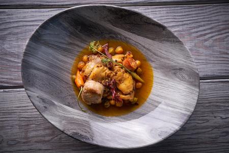 Madrid style modern callos tripe stew from Spain tapas