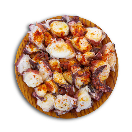 Pulpo a la gallega octopus spanish recipe Banco de Imagens
