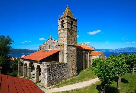 Fisterra or Finisterre church end of Camino de Santiago Way of Saint James Galicia Spain Stock Photo
