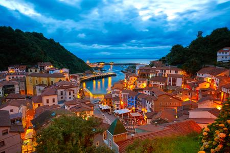 Cudillero village in Asturias from Spain