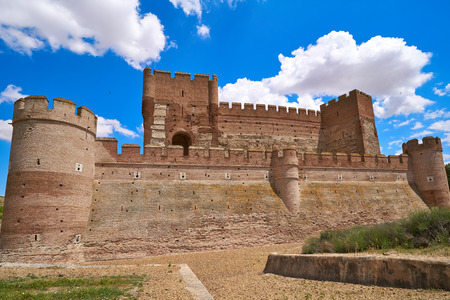 Medina del Campo village in Spain Mota castle in Valladolid at Castile Leon