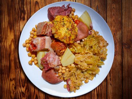 Cocido libaniego Rezept von Potes in Kantabrien von Spanien