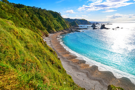 Playa del Silencio in Cudillero Asturias from Spain Stock Photo