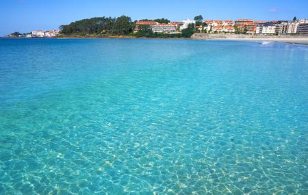 Sanxenxo also Sanjenjo Silgar beach in Pontevedra Galicia Spain Stock Photo