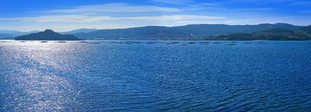 Illa de Tambo island in Ria of Pontevedra at Galicia Stock Photo