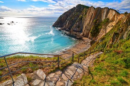 Playa del Silencio in Cudillero Asturias from Spain Stock Photo