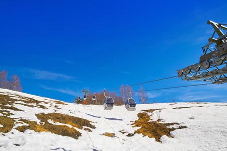Baqueira Beret in Lerida Catalonia ski spot resort in Aran Valley of Pyrenees Spain Stock Photo
