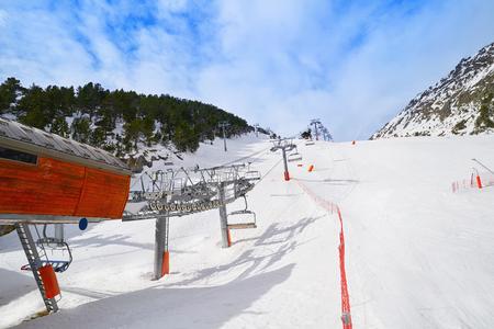 Arinsal ski resort in Andorra Pyrenees sunny day