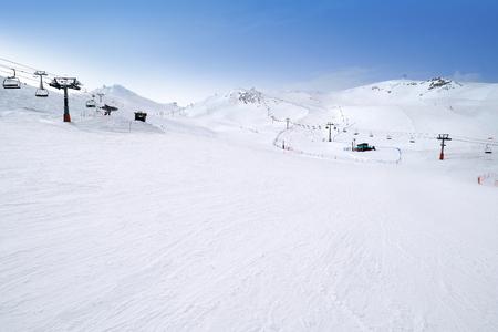 Pas de la Casa ski resort of Andorra in Grandvalira sector Imagens