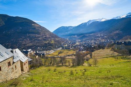 Vielha also Viella village in Lerida Catalonia of Spain Aran Valley in Pyrenees