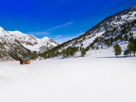 Ordino Arcalis ski resort sector in Andorra at Pyrenees