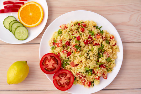 Tabule cous cous salad fresh with vegetables