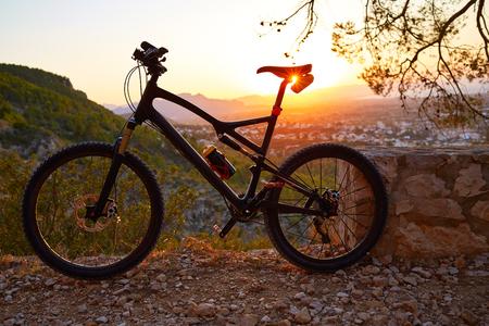 Denia Alicante from Montgo with MTB bicycle mountain bike Camino Colonia track