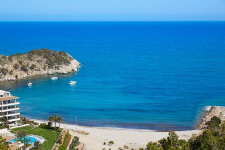 Altea beach aerial view in Alicante of Spain