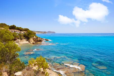 Cala Fustera beach in Benissa also Benisa of Alicante at Spain