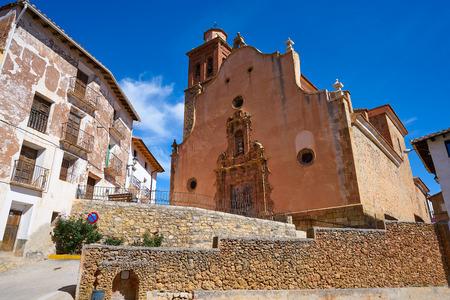 Arcos de las Salinas church in Valencia province of Spain
