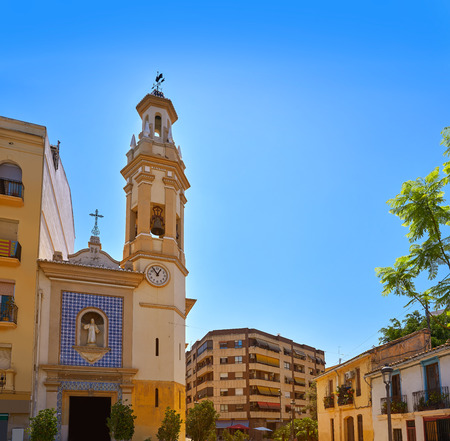 Plaza Patraix square and church in Valencia city of Spain