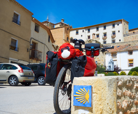 Chinchilla Montearagon bicycle by Saint James Way of Levante at La Mancha Spain