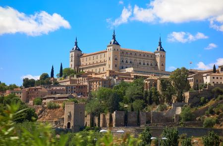 Alcazar de Toledo in Castile La Mancha of Spain Stock Photo