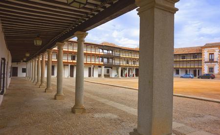 Tembleque Plaza Mayor in Toledo at Castile La Mancha on Saint james way Banque d'images
