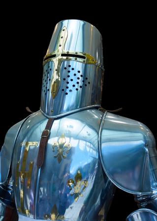 Knight steel armor replica in Toledo Spain