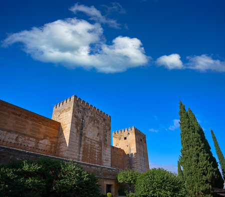 Alcazaba of Alhambra in Granada of Spain at Andalusia