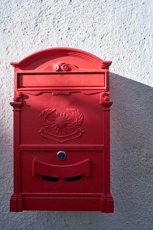 red mailbox in albayzin granada