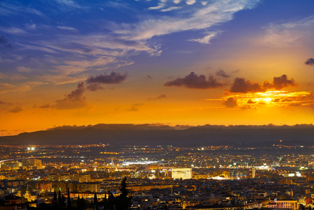 Granada skyline view from Albaicin in Andalusia Spain Imagens